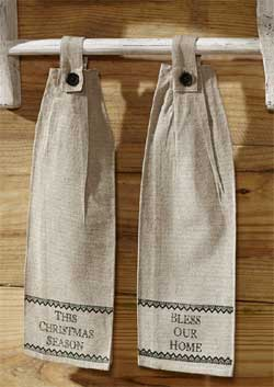 Timberland Christmas Hanging Kitchen Towels (Set of 2)