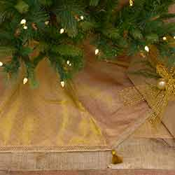 Tinsel 48 inch Tree Skirt