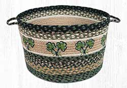Shamrock Braided Utility Basket - Large