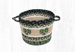 Shamrock Braided Utility Basket - Small