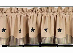 Raghu (Special Order) Black Star and Nutmeg Fairfield Valance
