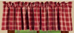 Middletown Check Red Valance