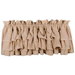 Raghu Heirloom Cream Ruffled Valance