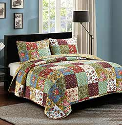 Vintage Garden Quilt Set - Queen / Full
