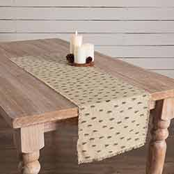 Vintage Burlap Tree 48 inch Table Runner
