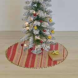 Vintage Stripe Mini 21 inch Tree Skirt