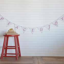 Vintage Stripe Peace & Joy 7 ft Banner
