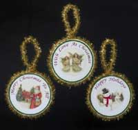 Angel, Santa or Snowman Round Ornament