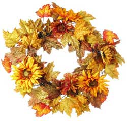 Mixed Sunflower Wreath