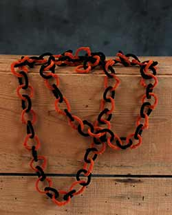 Black & Orange Halloween Garland