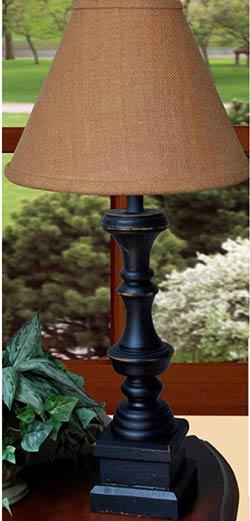 Covington Lamp Base - Black
