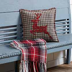 Weston Button Reindeer Pillow (16x16)