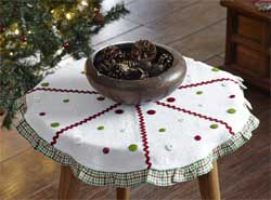 Whimsical Christmas Tree Skirt - Mini (21 inch)