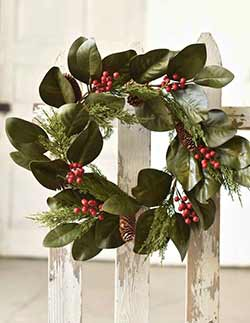 Yuletide Magnolia Wreath