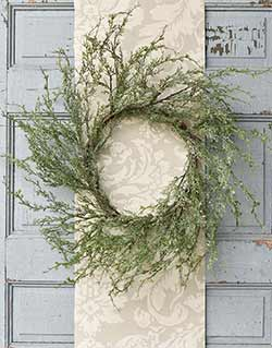 Ice Glazed Cedar 24 inch Wreath