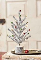 Snazzy Silver 12 inch Tinsel Tree