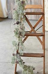 Birch Tipped Cedar Garland
