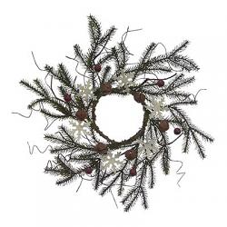 Snowflake, Berry, & Bell 4.5 inch Candle Ring