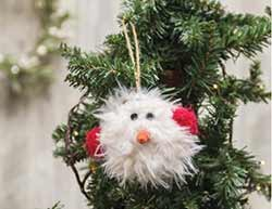 Furry Snowman Ornament