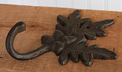 Acorn & Oak Leaf Wall Hook