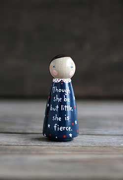 She is Fierce Peg Doll