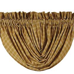 VHC Brands (Victorian Heart) Amherst Valance - Balloon (Gold Plaid)