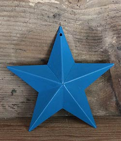 Peacock Blue Wall Star - 5 inch