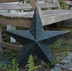Amish Wall Star, 22 inch (Black)