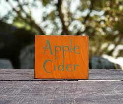 Apple Cider Wood Sign