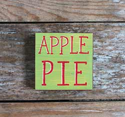 Apple Pie Shelf Sitter Sign