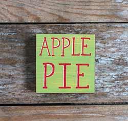 Apple Pie Shelf Sitter Sign