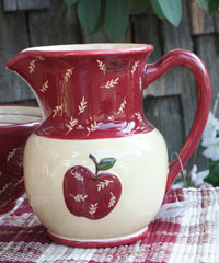 Apple Jack Dinnerware - Pitcher