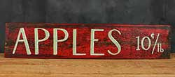 Apples 10 cents Reclaimed Wood Sign