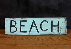 Beach Distressed Wood Sign