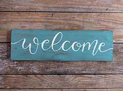 Welcome Wood Sign - 18 inch (Color Options Available)
