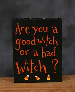 Are You A Good Witch Hand Lettered Sign