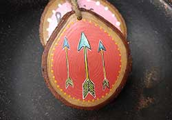 Arrows Wood Slice Ornament