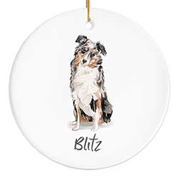 Australian Shepherd Personalized Ornament