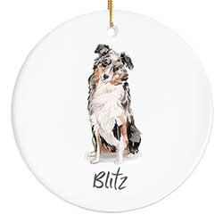 Australian Shepherd Personalized Ornament
