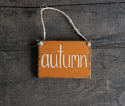 Our Backyard Studio Autumn Wooden Sign