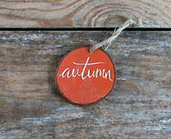 Autumn Wood Slice Ornament
