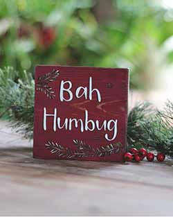 Bah Humbug Shelf Sitter Sign