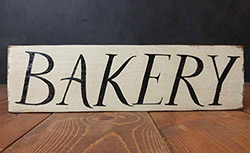 Bakery Rustic Wood Sign