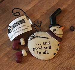Flying Snowman Ornament - Good Will