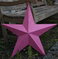 Fuschia Pink Wall Star - 24 inch