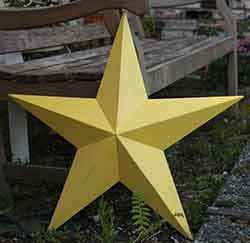 Sun Yellow Wall Star - 24 inch