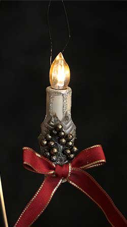 Traditional Candle Ornament - Red