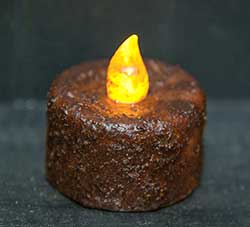 Burnt Mustard Battery Tealight with Timer