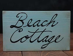Beach Cottage Wooden Sign