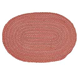 Coral Braided Placemats (Set of 6)